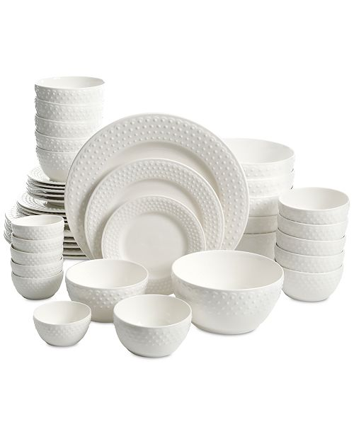 Gibson White Elements Fleetwood 42 Pc Dinnerware Set Service For 6 Created