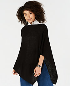 Charter Club Pure Cashmere Solid Basic Poncho, in Regular and Petite Sizes, Created for Macy's