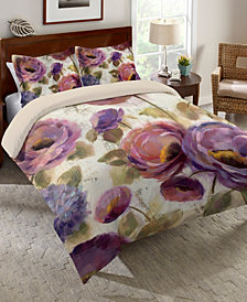 Laural Home Precious Purples and Blues Queen Comforter
