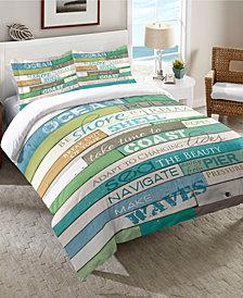 Laural Home Ocean Rules  Queen Comforter