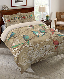 Laural Home Birds and Blossoms Twin Comforter