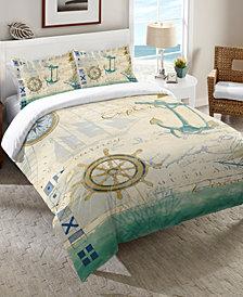 Laural Home Mariner Sentiment   Queen Comforter