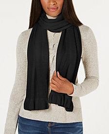 Charter Club Ruffled Cashmere Scarf, Created for Macy's