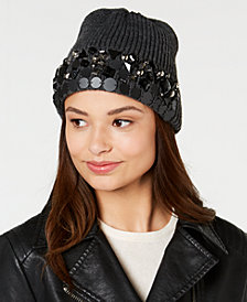 DKNY Embellished Beanie, Created for Macy's
