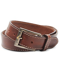 Tommy Bahama Men's Stitched Leather Belt