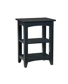 Shaker Cottage 2 Shelf End Table, Charcoal Gray