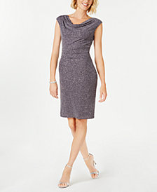 Jessica Howard Petite Cowl-Neck Dress