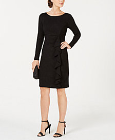 Jessica Howard Petite Cascade-Ruffle Dress