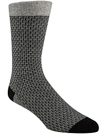 Men's Textured Crew Socks