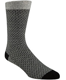 Cole Haan Men's Textured Crew Socks