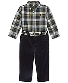 Polo Ralph Lauren Baby Boys Plaid Shirt & Pants Set