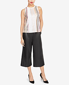 RACHEL Rachel Roy Sequined Top, Created for Macy's