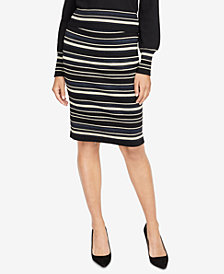 RACHEL Rachel Roy Striped Sweater Skirt, Created for Macy's