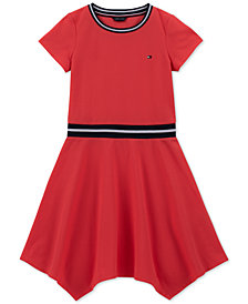 Tommy Hilfiger Big Girls Handkerchief-Hem Dress