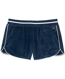 Tommy Hilfiger Big Girls Velour Shorts