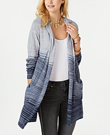 Style & Co Marled-Knit Hooded Cardigan, Created for Macy's