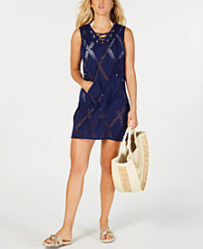 Dotti X-Factor Lace-Up Tunic Cover-Up