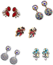 Deepa Future is Bright Two-Tone Crystal Earrings Separates
