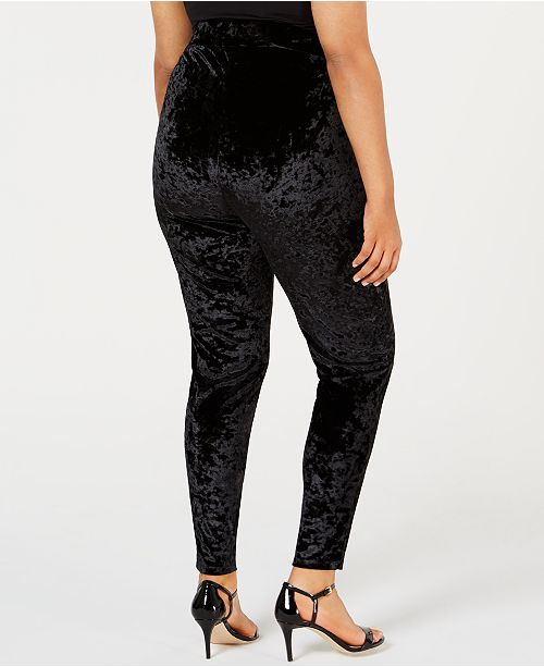 d240e65084d34d Michael Kors Plus Size Crushed Velvet Leggings & Reviews - Pants ...