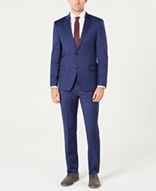 Tommy Hilfiger Men's Modern-Fit TH Flex Stretch Blue Tic Suit