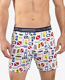 Nautica Men's Printed Knit Cotton Boxers