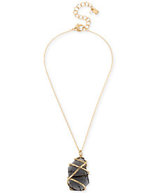 "Robert Lee Morris Soho Caged Stone Pendant Necklace, 16"" + 3"" extender"