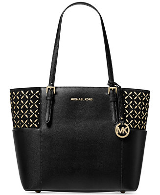 1fe588e34acc Michael Kors Suede Jet Set Travel Tote & Reviews - Handbags & Accessories -  Macy's