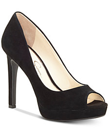 Jessica Simpson Dalyn Peep-Toe Platform Pumps