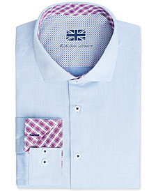 Michelsons of London Men's Slim-Fit Performance Dress Shirt