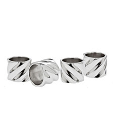Godinger Hillcrest Napkin Rings, Set of 4
