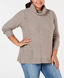 Belle by Plus Size Turtleneck Tunic Sweater