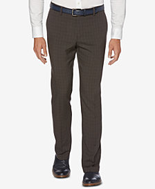 Perry Ellis Men's Portfolio Slim-Fit Stretch Tonal Plaid Dress Pants