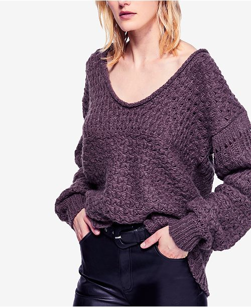 08a0e28c59d6 Free People Crashing Waves Open-Knit Sweater   Reviews ...