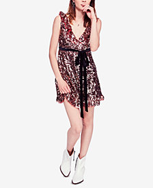 Free People Sequin A-Line Dress