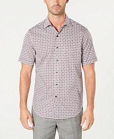 Tasso Elba Men's Medallion-Print Shirt, Created for Macy's