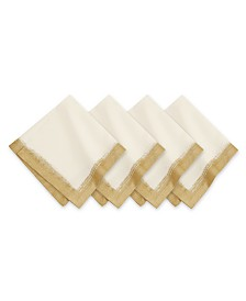 Villeroy & Boch  Metallic Brushstroke Napkin 4 Pc Set