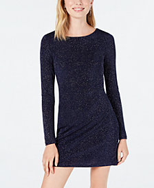 Speechless Juniors' Glitter Knit Bodycon Dress