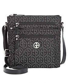 Giani Bernini Circle Signature Lurex Crossbody, Created for Macy's