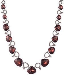 "Jenny Packham Hematite-Tone Pavé & Stone Collar Necklace, 16"" + 2"" extender"