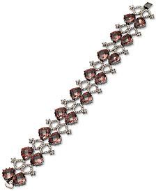 Jenny Packham Hematite-Tone Pavé & Stone Flex Bracelet