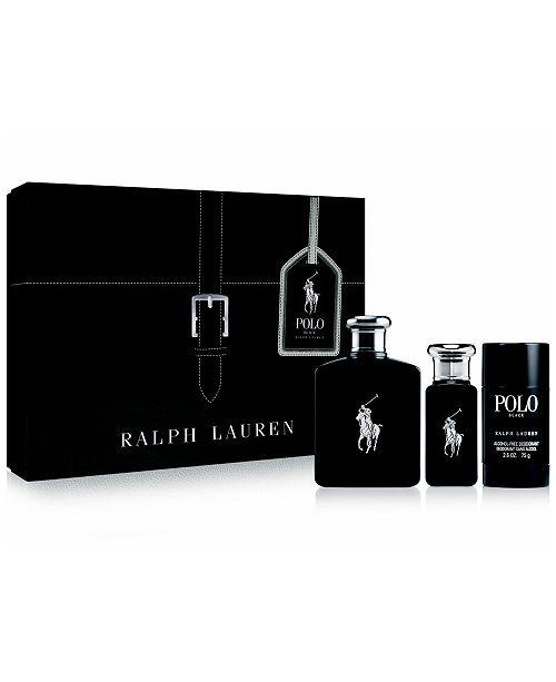 Ralph Lauren Men's 3-Pc. Polo Black Gift Set