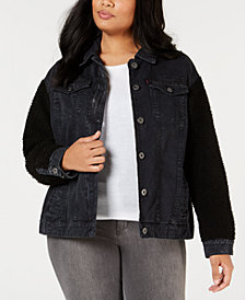 Levi's® Plus Size Mixed-Media Trucker Jacket