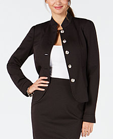 Tommy Hilfiger Button-Front Mandarin Collar Jacket