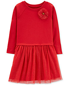 Carter's Little & Big Girls Tulle-Skirt Dress
