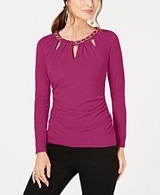 Thalia Sodi Chain-Link Cutout Top, Created for Macy's