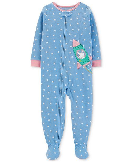 027a5b0863cf Carter s Toddler Girls Star-Print Rocket Footed Pajamas   Reviews ...