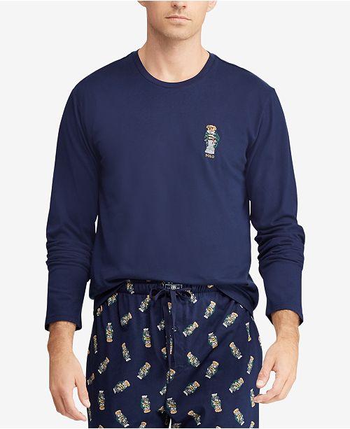 82b5e37f Polo Ralph Lauren Men's Polo Bear Crew-Neck Cotton Shirt ...