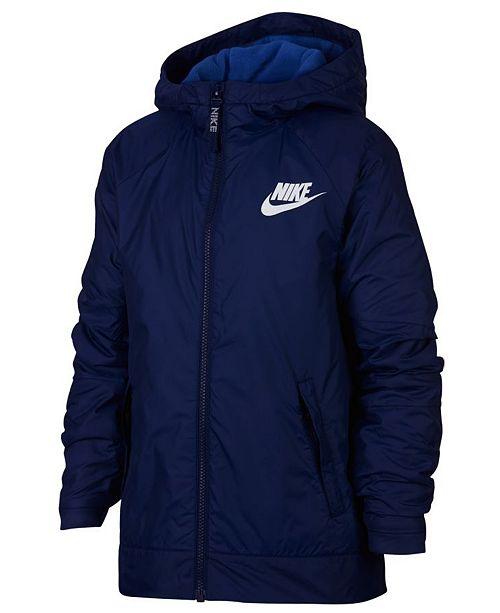 96b1e27f22f5 Nike Big Boys Sportswear Fleece Hooded Jacket   Reviews - Coats ...