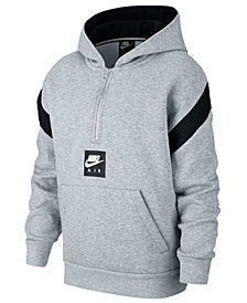 Nike Big Boys 1/2-Zip Air-Print Pullover Hoodie