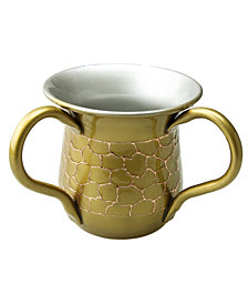 Classic Touch gold Wash Cup with Embossed Design